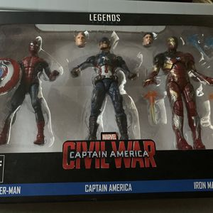 Marvel Legends Captain America Civil War 3pk for Sale in Pomona, CA