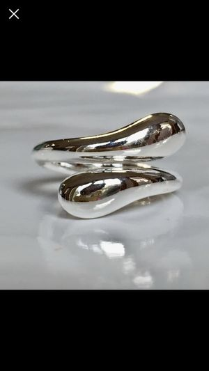 Sterling silver plated 925stamped water drop ring sz 7 for Sale in Silver Spring, MD