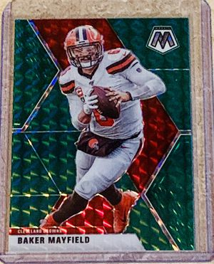 NFL 2020 Panini Green Prizm Cleveland Browns Baker Mayfield Insert Card for Sale in North Ridgeville, OH