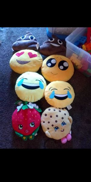 Emoji Shopkin and poop pillows 🤣🤣 for Sale in Fresno, CA