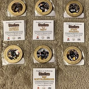 Pittsburgh Steelers Commemorative Coins Set Of 7 for Sale in Columbia, SC