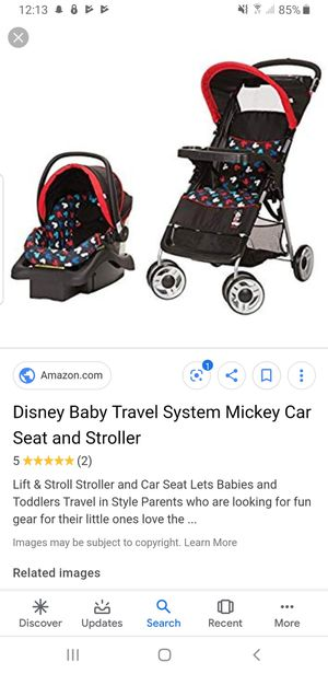 Disney Mickey Mouse Stroller & Car Seat combo. for Sale in Columbia Cross Roads, PA
