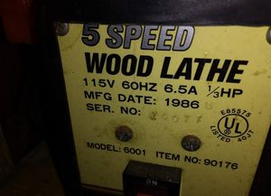 Wood lathe excellent condition for Sale in Rustburg, VA