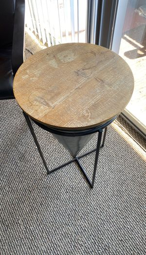 Industrial style side table for Sale in University, VA