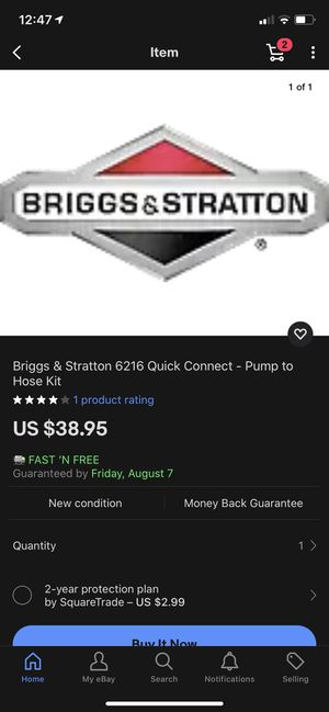 Briggs & Stratton ACC Pump to Hose Kit for Sale in Yucaipa, CA