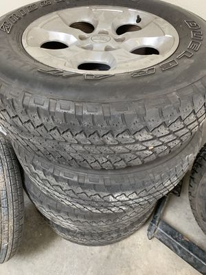 255/70/18 Jeep wheels and tires 4 total.. for Sale in Riverside, CA