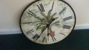 Palm tree clock for Sale in Greenville, SC