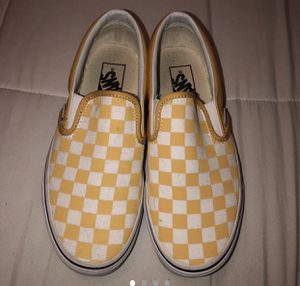 Yellow checkered slip on vans 💛 for Sale in Miami Shores, FL