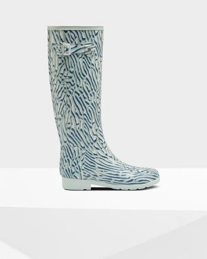 Hunter Refined Tall Coral Print Waterproof Boot - Women 10 for Sale in Santa Ana, CA