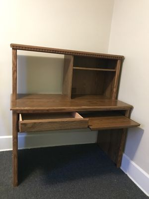 Wooden computer desk for Sale in Kent, OH
