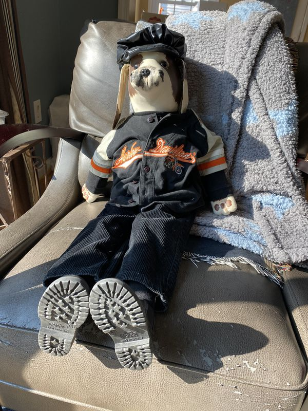 East Side 2.5foot Harley Davison Stuffed Dog