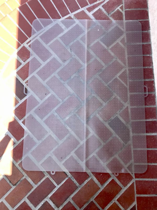 Chair Mat Home Office Rolling Chair Floor Carpet Protector 36''X 48'' PVC Clear