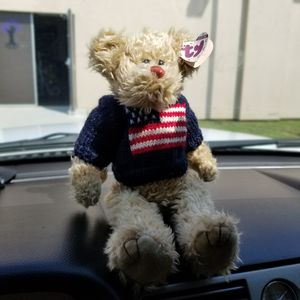 TY Attic Treasures Grant USA bear Vintage Collectible Americana Red White Blue  for Sale in Hightstown, NJ