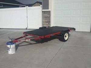 4'x8' Trailer. Stands up for compact storage. Super easy to store and transport. Tires are like new on tread. for Sale in Idaho Falls, ID
