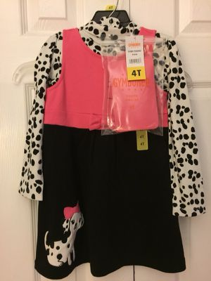 Gymboree Size 4T pink, black and white dress with pink tights brand new with tags for Sale in Poway, CA