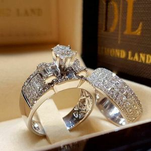 *NEW ARRIVAL* 2pc Set White Sapphire Wedding Bridal Rings Szs 6/ 7 / 9 / 10 *See My Other 500 Items* for Sale in Palm Beach Gardens, FL