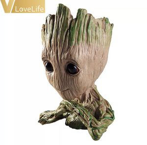 Hot Baby Groot Flowerpot Flower Pot Planter Action Figures Toy Tree Man Cute Model Toy Pen Pots Gift for Sale in Washington, DC
