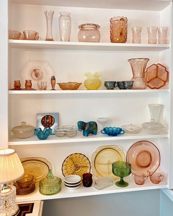 Vintage Pyrex, milk glass, depression glassware, carnival glass