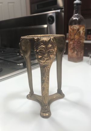 Brass Decorative Stand with Lion Heads for Sale in Barrington, IL