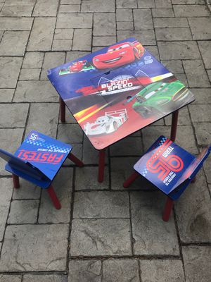 Cars kid table and chairs for Sale in Mill Creek, WA