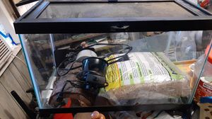 10 gal with normal light, ceramic cup, heat pad, tree trunk hide, aspen substrate. for Sale in Rossville, GA