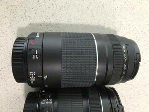 Canon EOS 70D DSLR Plus lenses for Sale in Auburn, NH