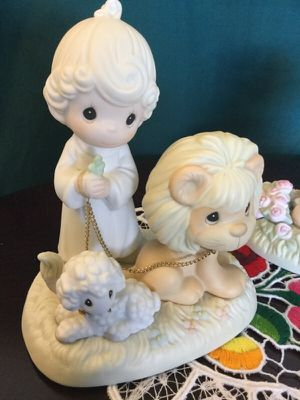Little Shepherd boy with Christmas Lamb & Lion / Porcelain figurines 🎄✨💕✨🎄🎁 for Sale in Lincolnia, VA