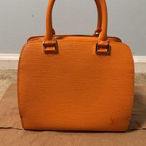 BRAND NEW orange Louis Vouis Vuitton handbag for Sale in Holland, PA
