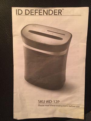 Homesick ID Defender Paper Shredder for Sale in CT, US