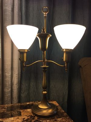 1940s Solid brass lamp w/Milk glass for Sale in Gainesville, FL