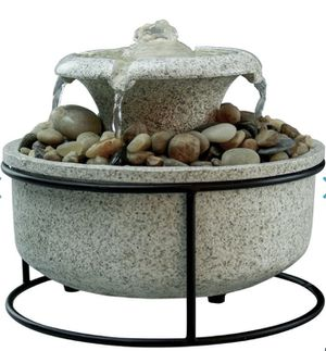 Homedics Mirra Euphoria Tabletop Relaxation Fountain Waterfall Water Light and Soothing Music for Sale in Ontario, CA