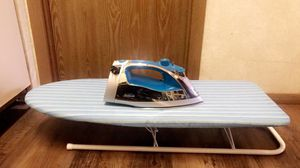 Sunbeam Steam Master Iron + mini ironing board w/ cotton fabric for Sale in Frederick, MD