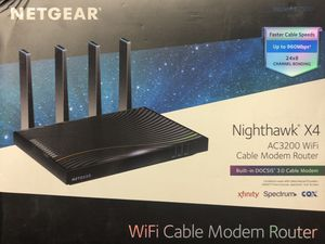 Netgear nighthawk x4 AC3200 cable modem router for Sale in San Jose, CA
