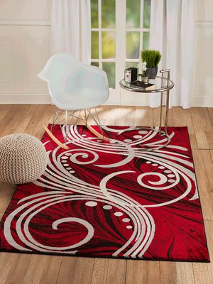 New modern rug size 8x10 nice red carpet rugs for Sale in Burke, VA