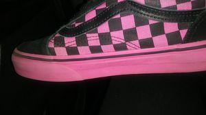 Checker pink black vans for Sale in Houston, TX