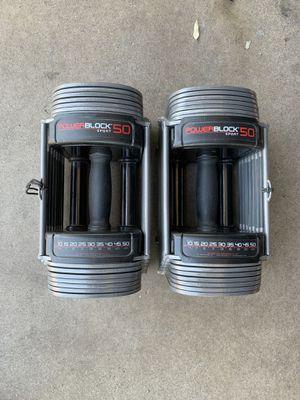 Sportblock 50 Powerblock 5-50 lb Adjustable Dumbbells for Sale in Phoenix, AZ