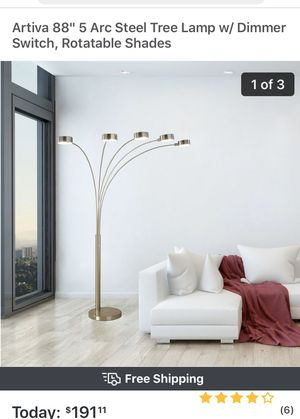 Arc floor lamp. NEW for Sale in Delray Beach, FL