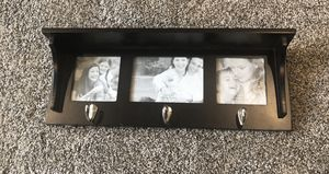 Home decor wall shelf picture frame with hooks for Sale in Chino, CA