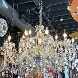 Crystal Chandelier Italy design very unique Silver color for Living room, Entryway, Dining room for Sale in Newport Beach, CA