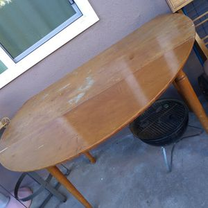 DINNER TABLE WITH FOLD DOWN WINGS for Sale in Whittier, CA