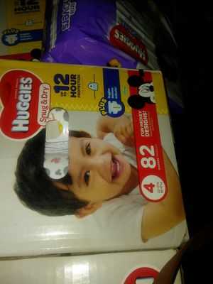 Huggies size 4. 82 count two boxes for Sale in Ontario, CA