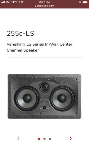 POLK AUDIO 255C-LS VANISHING IN WALL CENTER SPEAKER | 255CLS EACH for Sale in Canton, MA
