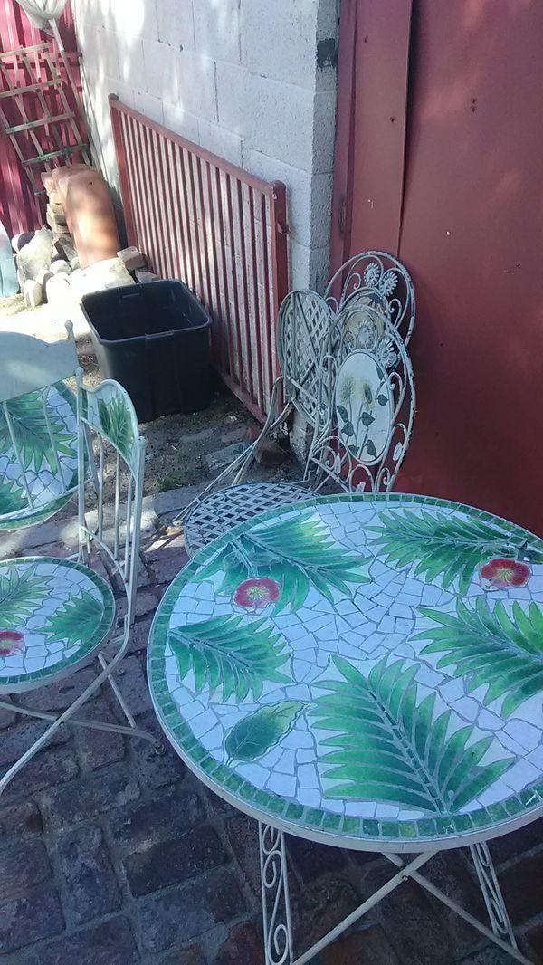 Decorative antique lawn furniture