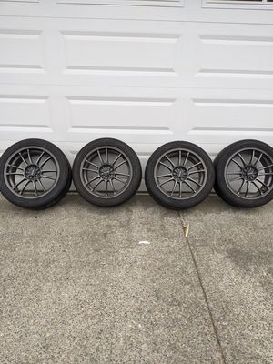 "Drag 18"" rims and tires. 5x114.3 or 5x100 for Sale in Bonney Lake, WA"