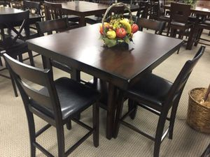 (BRAND NEW) 5-PC Breakfast Kitchen Dinning Table Set - Espresso Brown for Sale in Houston, TX