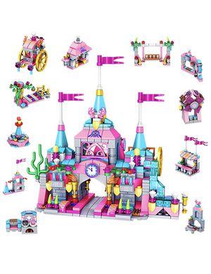 25 in 1 Pink Princess Castle Building Bricks, 566 PCS STEM Construction Building Blocks for Sale in Pleasanton, CA