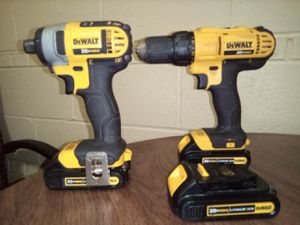 DeWalt 20v lithium ion impact and cordless drill for Sale in Wichita, KS