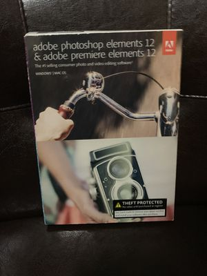 Adobe Photoshop Elements 12 and Premiere Elements12 for Sale in Chesapeake, VA