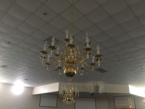 12 chandeliers and 1 large foyer chandelier. $100.00 each for regular chandeliers and $300.00 for much larger foyer chandelier. Location in Dundee F for Sale in Dundee, FL