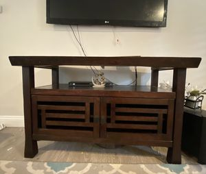 Wood TV stand for Sale in Walnut Creek, CA